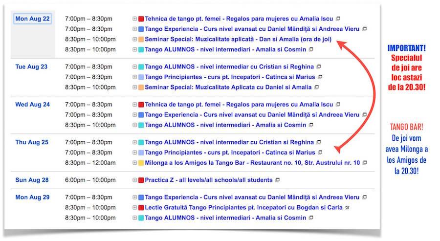 Program de tango tangent