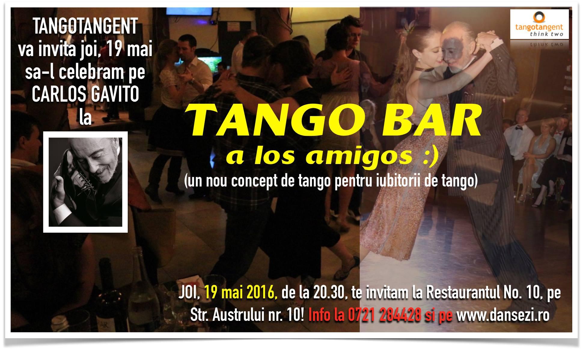 Joia de la 20.30 dansam la TANGO BAR pe Austrului nr. 10